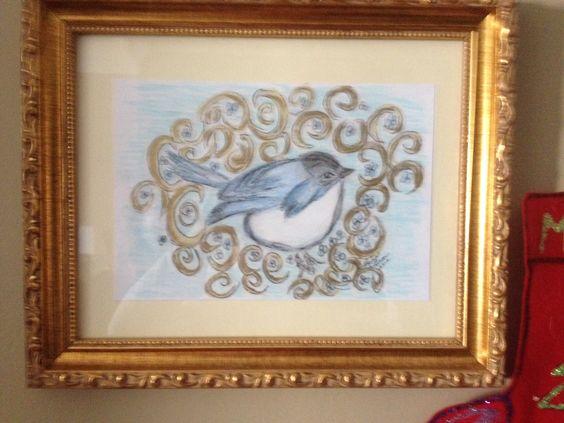 Kelly's Bluebird-mixed media