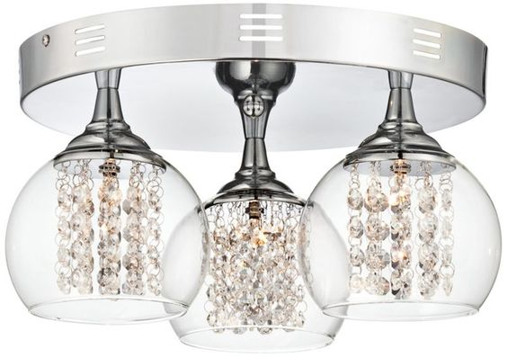 Possini Euro Encircled Crystal 15 1/2-Inches-W Ceiling Light - #EUW7988 - Euro Style Lighting