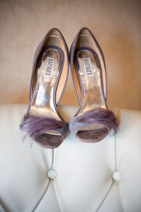 Shoes: Badgley Mischka    See the wedding on SMP: http://www.StyleMePretty.com/pennsylvania-weddings/philadelphia/2014/02/21/philadelphia-wedding-at-the-old-mill/ Asya Photography