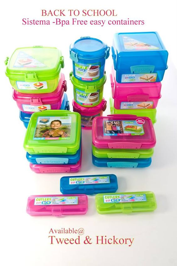 Taking lunch to school ? Soup, Cereal ,fruit or Sandwiches and have no Idea on how to pack them? Klip-It by Sistema is a wonderful line of functional storage that is totally BPA Free and extremely durable for your Back to school needs.. Available at Tweed & Hickory locations & online www.tweedandhickory.com Click to see the whole line http://www.tweedandhickory.com/shopsite_sc/store/html/klip-it-bpa-free-food-storage-containers-by-sistema.html