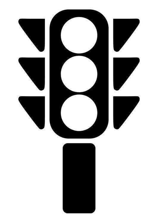 Kleurplaat: verkeerslicht