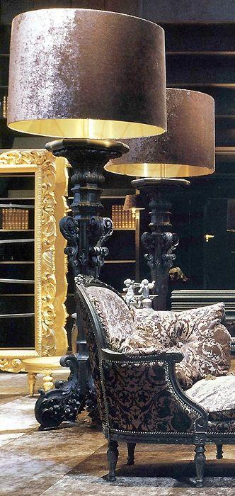 Messing Beine, Holz Gestell und Glas Tischplatte