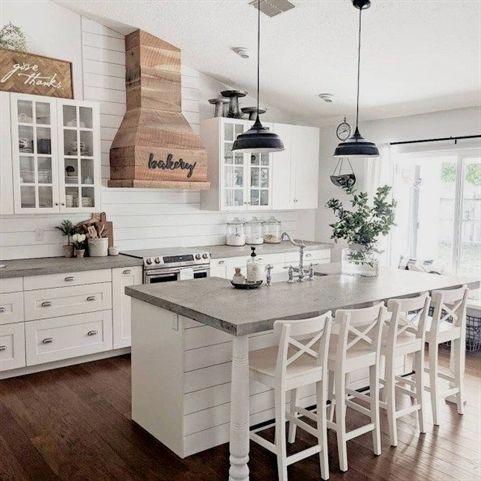40 Cute Farmhouse Kitchen Decor Ideas Homehihoo Homedecorideas