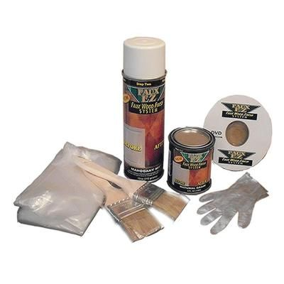 Natural grain faux wood finish kit home the o 39 jays and for Wallpaper kit home depot