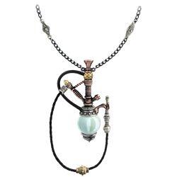 Holmes-Baker Patent Kinetic Nargile Steampunk Pendant