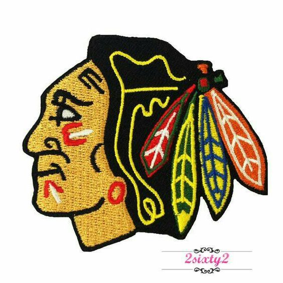 Blackhawks Inspired Embroidery Design