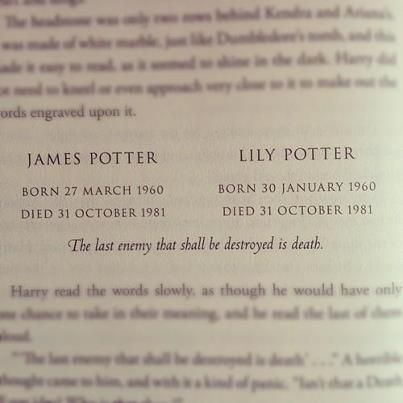 RIP James and Lily Potter. My favorite part in Harry ...