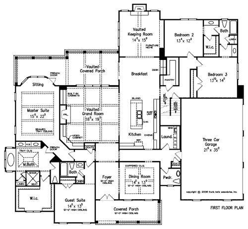 Plan name orleans 4 bedroom 4 5 bath 1 story living for Three bedroom house plans with bonus room