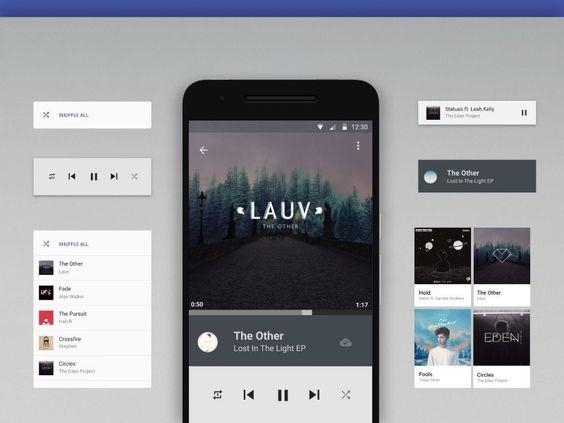 UI Work - Music Player