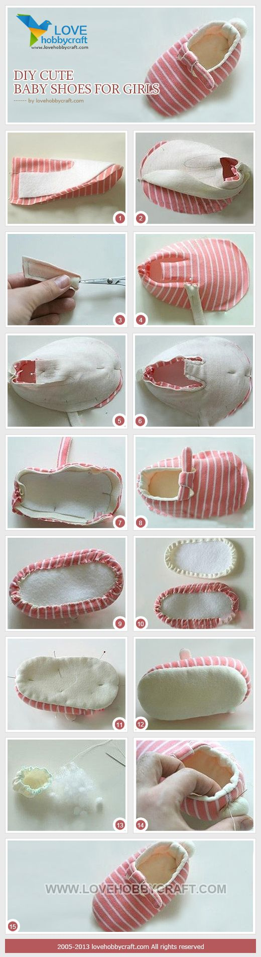 DIY cute baby shoes for girls: