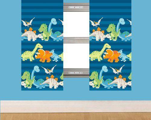 """Dinosaur Curtains 66"""" x 72"""" - Blue Stripes by Rapport, http://www.amazon.co.uk/dp/B00C2PESQS/ref=cm_sw_r_pi_dp_.CZ9sb1F3WDD9"""