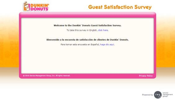 Participate in Tell Dunkinu0027 Donuts customer satisfaction survey - customer satisfaction survey template