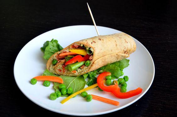 спринг-роллы с хумусом и начинкой из овощей. Рецепт с фото