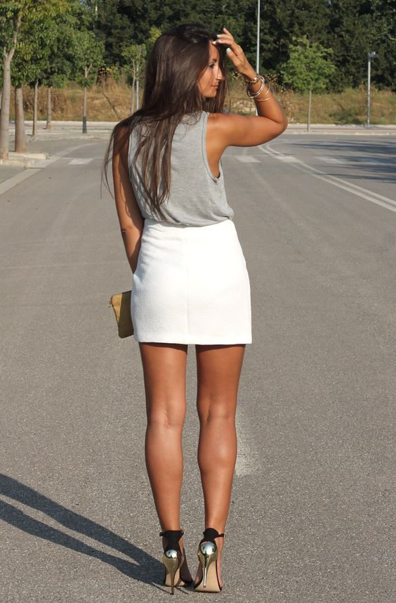 From Boho to Chiic: White on Gray