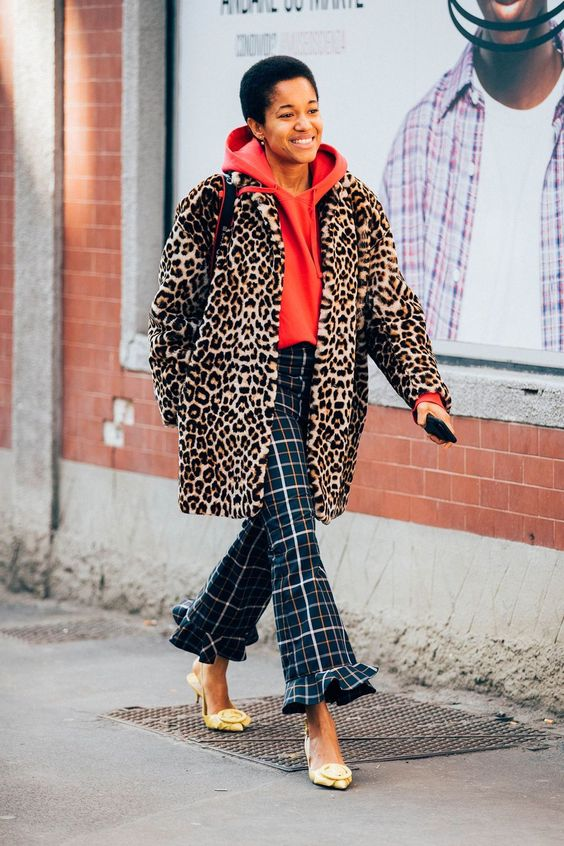 Milan brings out the bold side of all street stylers. Cue lashings of leopard print, and gentlemanly checks (seen here on Tamu McPherson), with a montage of eye-popping florals. The difference this season? Daring to wear them all at once.
