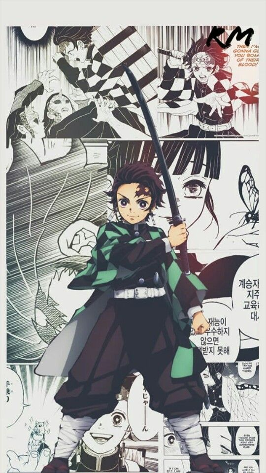 Tanjirou Anime Personagens Papel De Parede De Fundo
