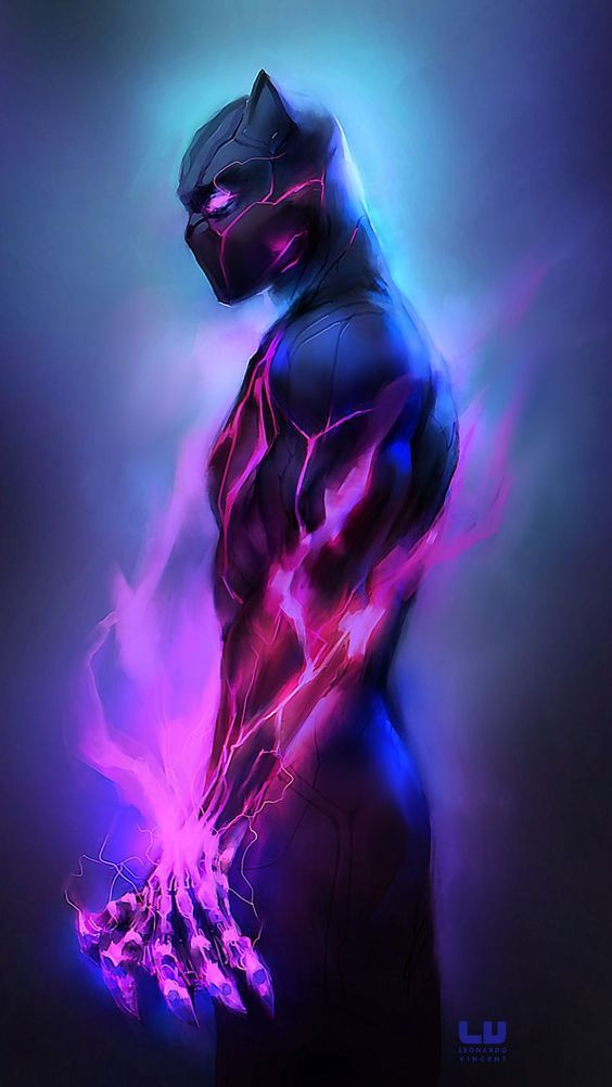 Black Panther Wallpaper Purple