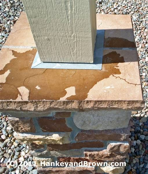 Stone Column Base : The porch stone cladding and porches on pinterest