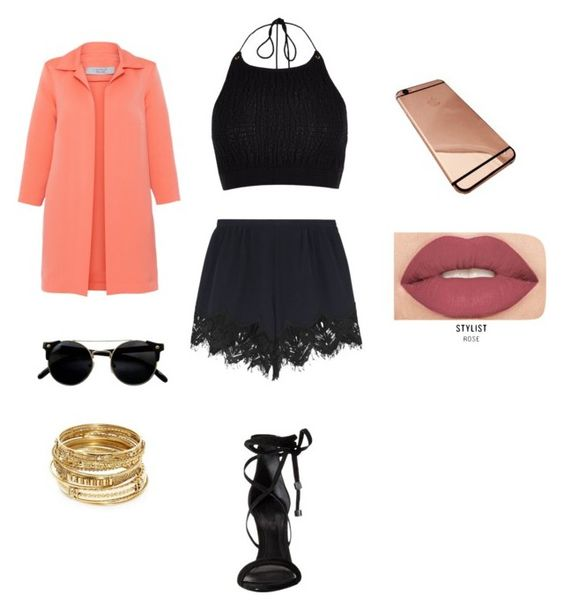 """#ContestEntry"" by kiddunique ❤ liked on Polyvore featuring River Island, D.Exterior, Chloé, Schutz, ABS by Allen Schwartz and Smashbox"