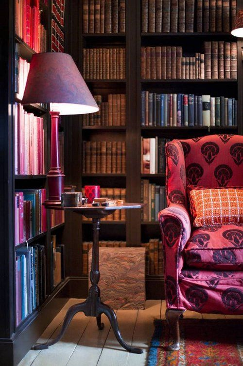Just imagine the things I could read in a pink chair under a purple lamp. #indeed #fancyman: