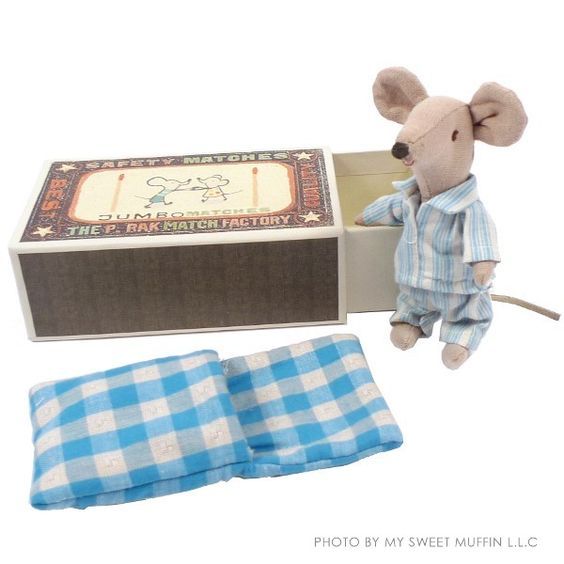 Maileg Big Brother Mouse in PJ in Box