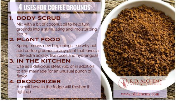 Why not step into Spring with some #DIY? Coffee grounds are the perfect natural remedy! #rdalchemy #naturalremedies #solutions