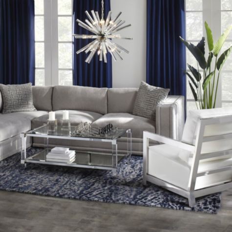 Faux Palm Tree From Z Gallerie Navy Blue And Grey Living Room Living Room Drapes Living Room Grey Z gallerie living room pinterest