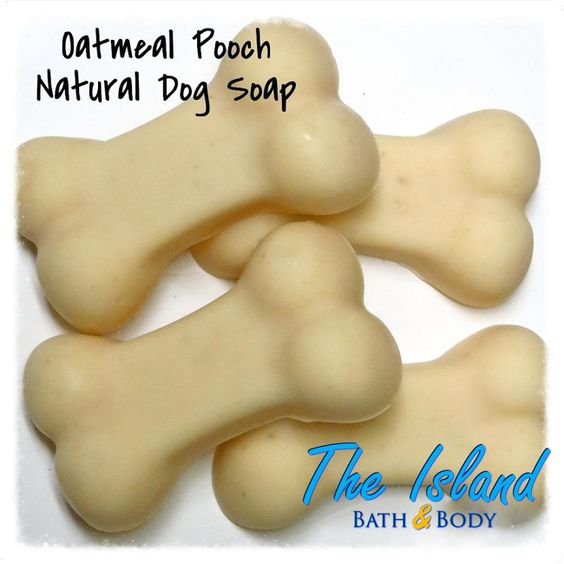 4 count Oatmeal Pooch Coconut Milk Soap for Dogs handmade by The Island Bath and Body. Specially formulated with natural essential oils, oatmeal, and creamy coconut milk to soothe your pooch's skin.