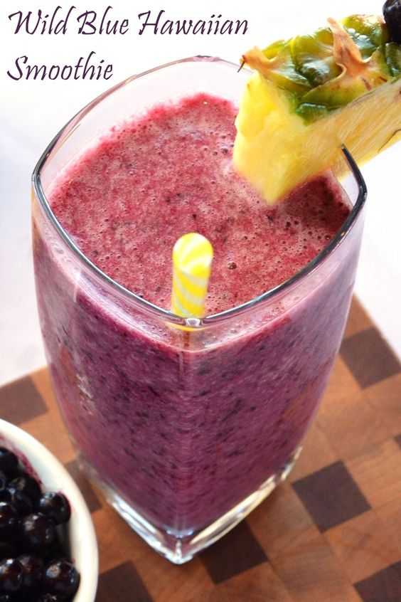 Blue Hawaiian Smoothie Recipe - a tropical dairy-free dream to enjoy year round with wild blueberries!
