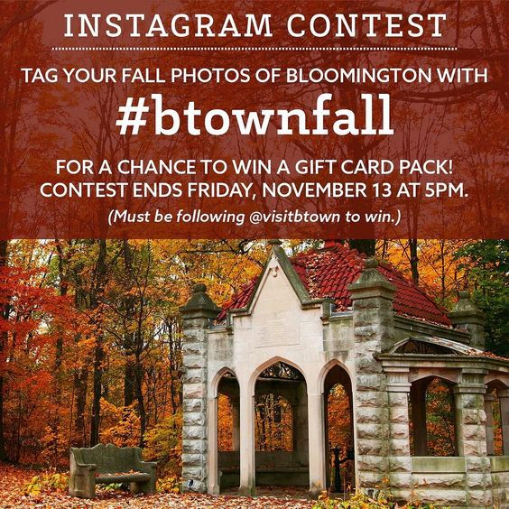 Time to get your cameras out all you leaf lovers! Tag your autumn photos with #btownfall for a chance to win a sweet gift card prize pack worth $50. Must be following @visitbtown to win. Photos must be posted between today and Nov 13. Each photo is a separate entry!