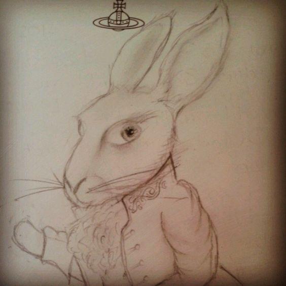 alice in wonderland white rabbit tattoo inspiration