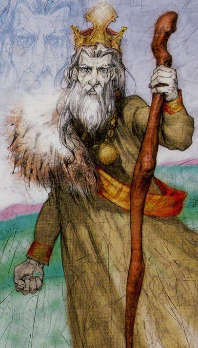 Belle Constantinne - King of Wands - Reflections Tarot