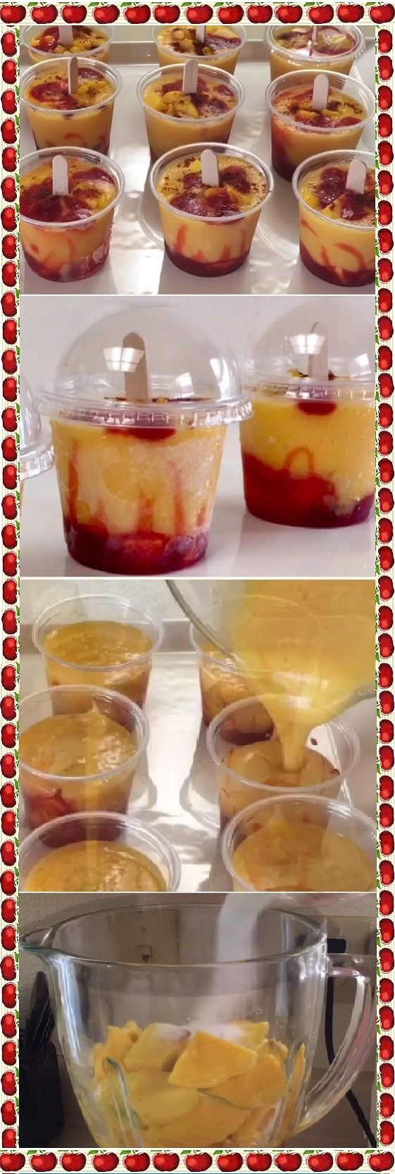 Mini Mangonadas Con Delicioso Y Natural Sabor A Fruta Recetas Faciles Para Cocinar Receta De Postres Frios Postres Fríos