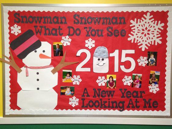 New year bulletin board | Bulletin boards | Pinterest ...
