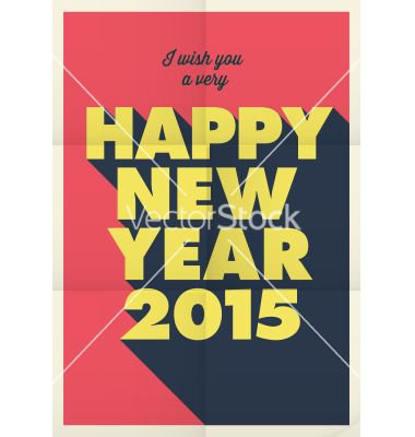Happy new year 2015 poster vector by thecorner on VectorStock®