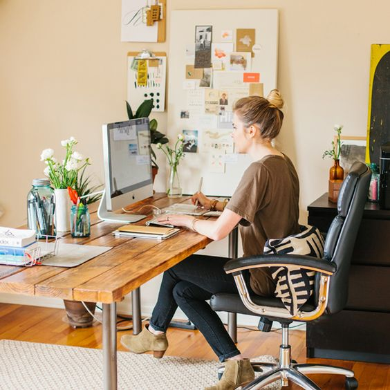 Home Office wood desk modern
