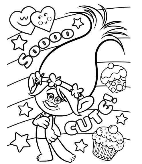 Coloring Page Base Poppy Coloring Page Free Disney Coloring