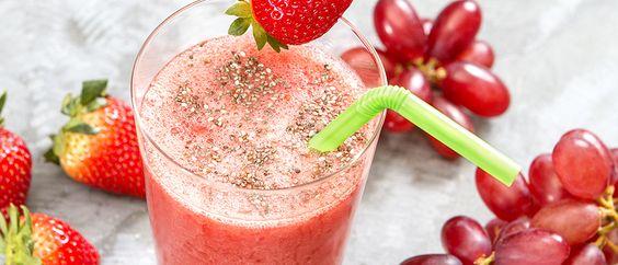 Shake de frutas vermelhas - Lucilia Diniz