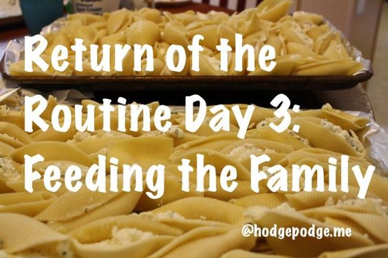 Return of the Routine - Feeding the Family