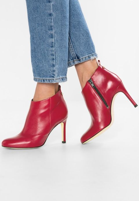 zalando bottines rouges