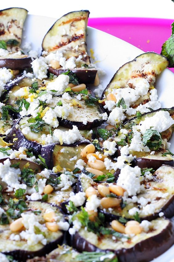 Eggplants, Goat cheese and Balsamic vinegar on Pinterest