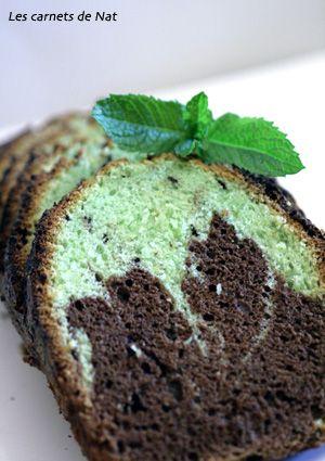 Cake marbré menthe chocolat…