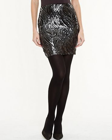 Amp up a simple blouse with this dazzling mini skirt! The wave design is really lovely – Le Château: Sequin Mini Skirt