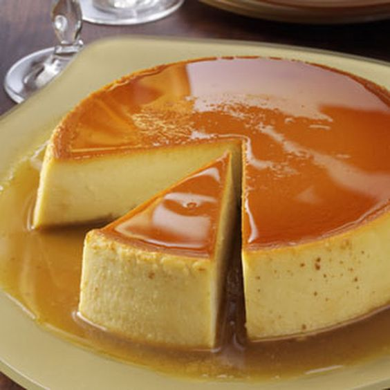 Recipe flan caramel evaporated milk cream cheeses desserts condensed