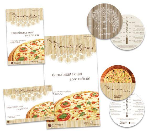 Campanha Pizza Crocantina - Usina da Promoção desenvolve material impresso para divulgar lançamento