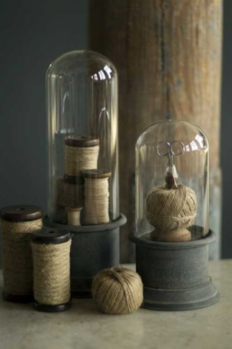 French-Style-Glass-Display-Bell-Jar-Cloche-Dome-w-Metal-Stand-Lg-6-25-x-15-5