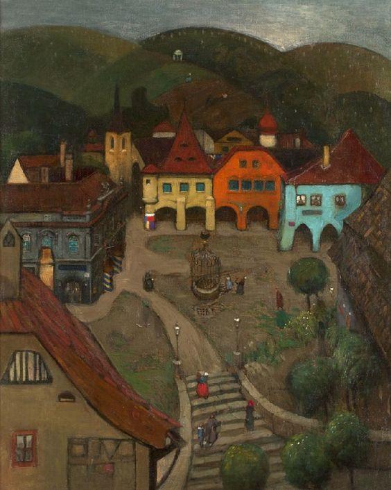 Richard Teschner, Kleine Stadt, 1903