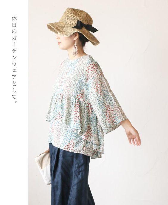 【楽天市場】【再入荷♪♪8月3日12時&22時より】「mori」緑、木、花、風、を感じる休日服トップス:cawaii