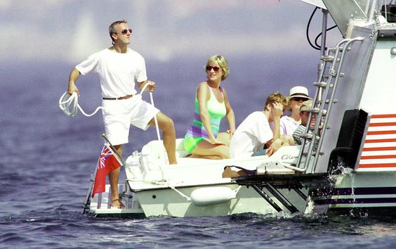 Princess Diana at St. Tropez