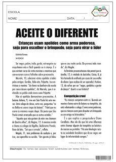 SOS PROFESSOR-ATIVIDADES: Preconceito
